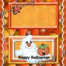 Candy Corn Ghost & Friends Halloween Bag Topper