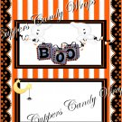 Ghostly Halloween House Standard Size Candy Bar Wrapper
