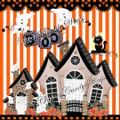 Ghostly Halloween House Gallon Can Set