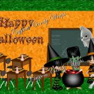 Ghouls in School Halloween Gallon Can Set