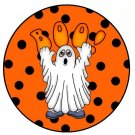 Boo Polka Dot Halloween Cupcake Picks & Toppers