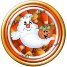 Candy Corn Ghost & Friends Halloween Cupcake Picks & Toppers