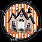 Ghostly Halloween House Cupcake Picks & Toppers