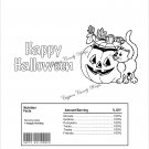 Color Me Jack O'Lantern & Cat Halloween Standard Size Candy Bar Wrapper