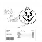 Color Me Trick or Treat Jack O'Lantern Halloween Standard Size Candy Bar Wrapper