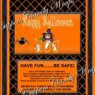 Orange Boo Halloween  Standard Size Candy Bar Wrapper