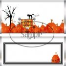 Pumpkin Halloween  Standard Size Candy Bar Wrapper
