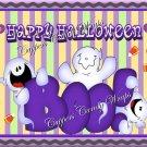 Purple Boo Halloween Gallon Can Set
