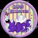 Purple Boo Halloween Cupcake Picks & Toppers