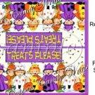 Treats Please  Halloween Bag Topper ~ Personalize It (Optional)
