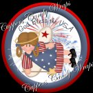 Bless America 4th of July Cupcake Picks & Toppers