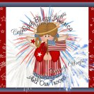 Bless America 4th of July Quart  Can Set #3 (09)