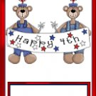 Bear Family 4th of July ~ MINI Candy Bar Wrapper