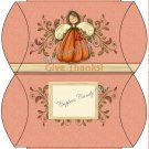 Give Thanks Angel Thanksgiving Pillow Purse
