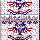 Celebrate America 4th of July Salt & Pepper Shaker Wrappers