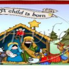 A Child is Born Christmas Quart Can Set #3