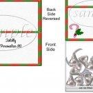 Design Your Own Candy Cane ~ Blank Christmas Bag Topper ~ 1 Dozen