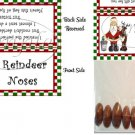 Reindeer Noses #1 Christmas  Bag Topper