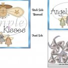 Angel Kisses Blue Christmas Bag Topper