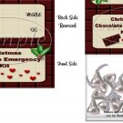 Emergency Chocolate Kit Christmas Bag Topper
