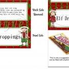 Elf Droppings Christmas Bag Topper