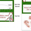 Raise a Little Cane ~ Christmas Bag Topper