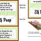 Elf Poop Christmas Bag Topper
