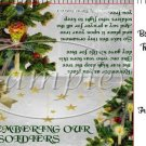 Remember Our Soldiers Christmas Ornament