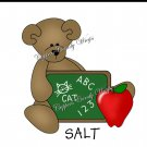 Salt & Pepper Wrappers ~ School Days ~ Teddy With Apple
