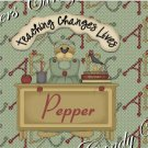 Salt & Pepper Wrappers ~ School Days ~ Teachers Change Lives