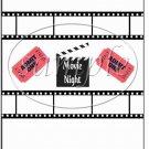 Admit One Movie Night ~  MINI Candy Bar Wrapper
