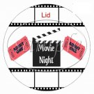Admit One Movie Night Cupcake Food Picks & Toppers ~ 1 Dozen