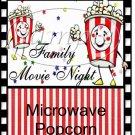 Family Movie Night Popcorn Wrapper ~ 1 Dozen