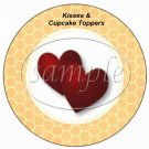 Bee My Valentine Honeycomb ~ Valentine's Day Cupcake Picks & Toppers