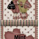 Country Primitive ~ Valentine's Day Mint Book Matchbook Wrapper ~ 3 Dozen