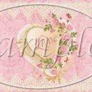 Floral Heart Valentine ~ Valentine's Day Pint Glass Jar Set
