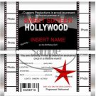 Hollywood Invite Movie Nights Standard Size Candy Bar Wrapper
