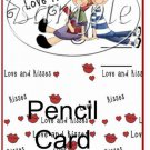 Love Me Valentine ~ Valentine's Day Pencil Card ~ 3 Dozen Set