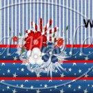 Patriotic Floral  ~  MINI Candy Bar Wrapper