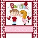 Pink Be Mine Valentine  ~ Valentine's Day ~  MINI Candy Bar Wrapper