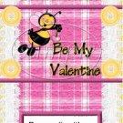 Plaid Valentine  ~ Valentine's Day ~  MINI Candy Bar Wrapper