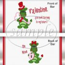 Key To My Heart Dragon ~ Valentine's Day Standard Size Candy Bar Wrapper