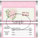 Lacey Heart ~ Valentine's Day Standard Size Candy Bar Wrapper