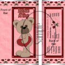 Love Bears All Things ~ Valentine's Day Standard Size Candy Bar Wrapper