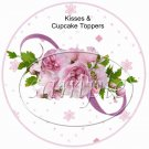Love Pink Roses ~ Valentine's Day Cupcake Picks & Toppers