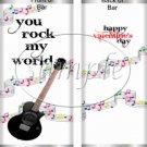 Rock My World ~ Valentine's Day Standard Size Candy Bar Wrapper