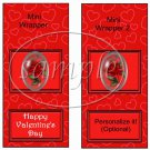 Rose Heart  ~ Valentine's Day ~ 3 Dozen (36 ct.) MINI Candy Bar Wrapper