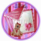 Triple Hearts ~ Valentine's Day Cupcake Picks & Toppers