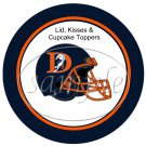 Denver Broncos (Faux) Cupcake Picks & Toppers