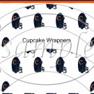 Chicago Bears ~ Faux NFL Cupcake Paper Wrappers ~ Set of 1 Dozen